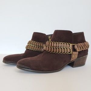 Sam Endelman Chain Harness Posey Suede Ankle Boot